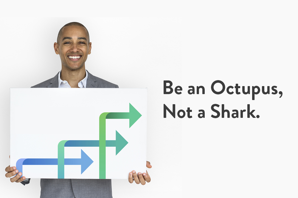 Be an Octopus, Not a Shark – Grow Your Business